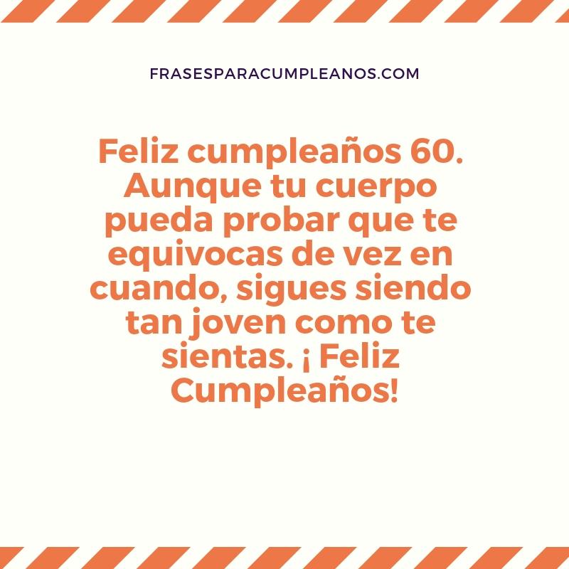 Deseos de feliz cumpleanos 60