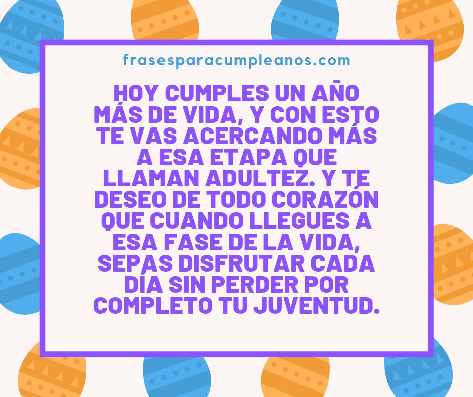 Felicitaciones De Cumpleaños Para Un Adolescente Frasescumple
