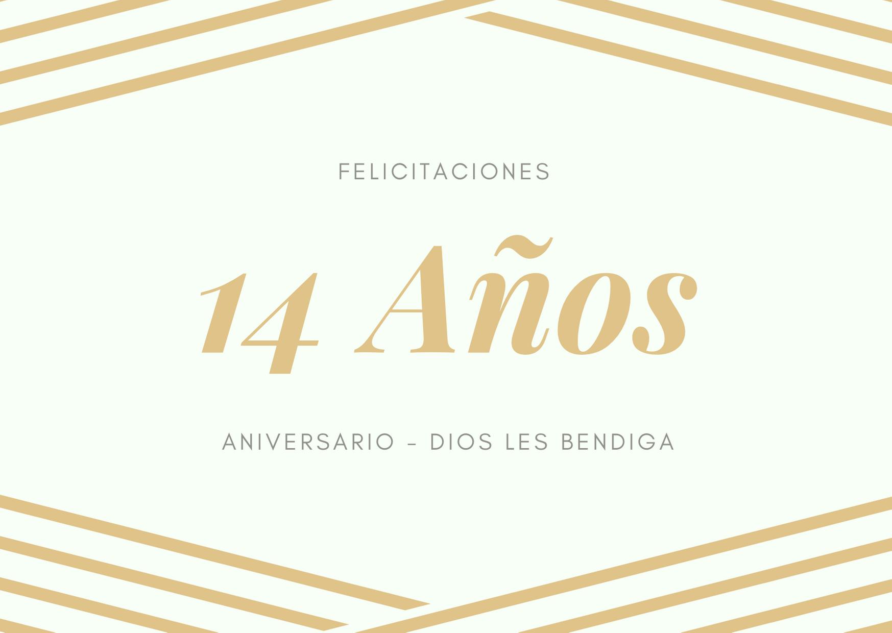 Bonito Lunes Mi Amor felicitaciones de aniversario de bodas 14 años - boda de